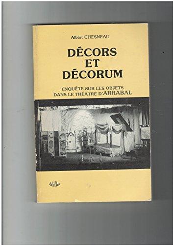 De�cors et de�corum: Enquête sur les objets dans le the�â...
