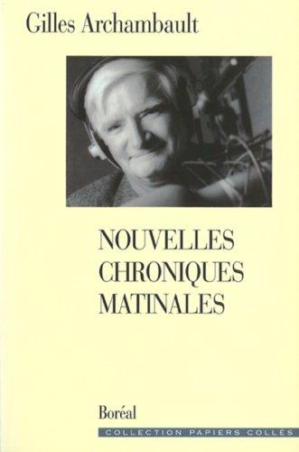 """9782890526181: Nouvelles Chroniques matinales (Collection """"Papiers collés"""") (French Edition)"""
