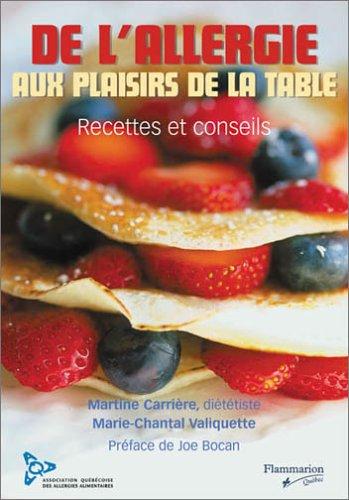 DE L'ALLERGIE AUX PLAISIRS DE LA TABLE: ASS.ALERGIES ALIMENTAIRES