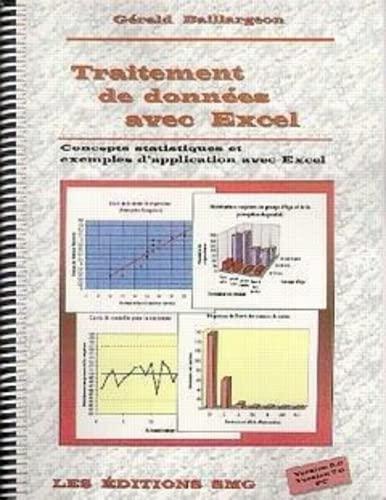 Traitement de données avec Excel: Concepts statistiques et exemples d'application avec Excel, outils d'analyse statistique (2890940845) by Baillargeon