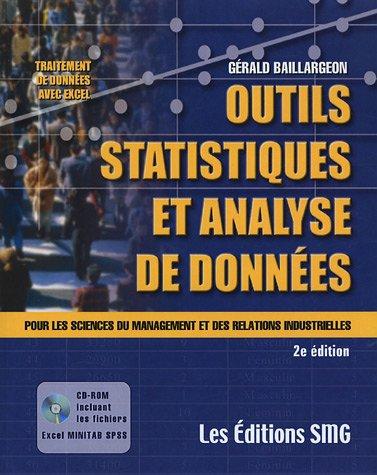 9782890941540: Outils statistiques et Analyse de données : Pour les sciences du management et des relations industrielles (1Cédérom)