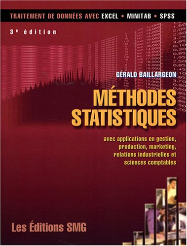 METHODES STATISTIQUES AVEC APPLICATIONS: BAILLARGEON + CD ROM