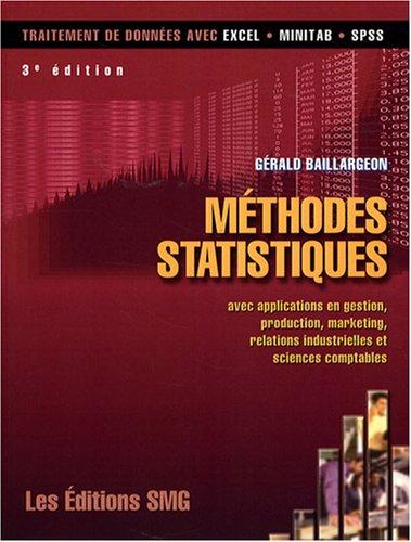 9782890941878: Méthodes statistiques (French Edition)