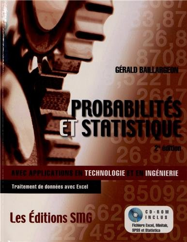 9782890942332: probabilites et statistiques avec application en technologie et ingenierie avec cdrom et brochure sy