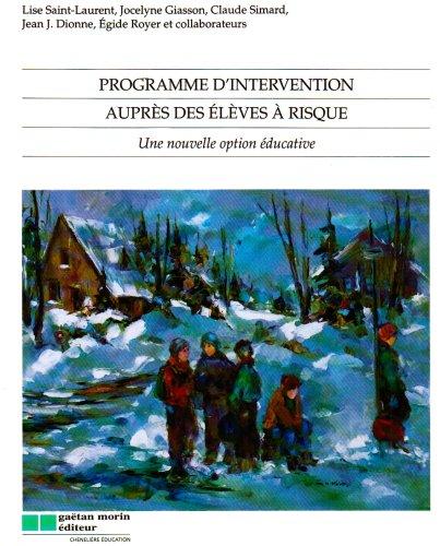 programme d'intervention aupres des eleves a risque: Lise Saint-Laurent