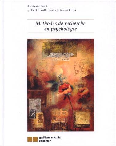 9782891057417: M�thodes de recherche en psychologie (Gaetan Morin)