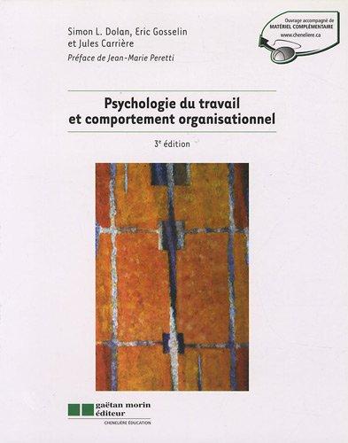 9782891059671: Psychologie du travail et comportement organisationnel