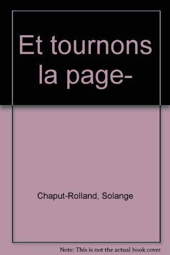 9782891113564: Et tournons la page-- (French Edition)