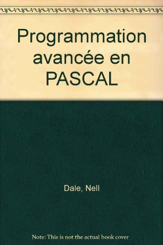 Programmation avancée en PASCAL (2891131363) by Dale, Nell; Lilly, Susan C
