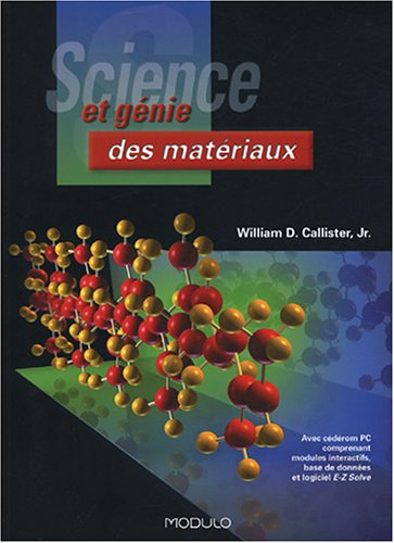 SCIENCE ET GENIE DES MATERIAUX: CALLISTER ED 2001