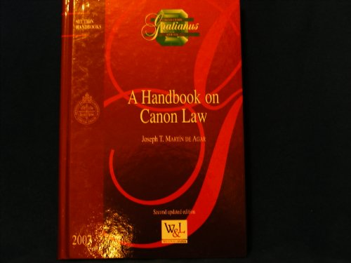 9782891278041: A Handbook on Canon Law