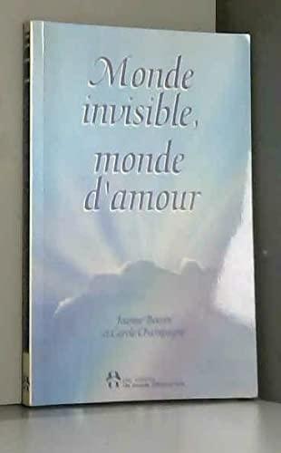 9782892251784: Monde invisible, monde d'amour