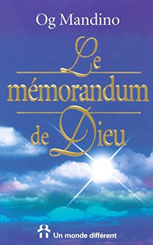 9782892252682: Le M�morandum de Dieu