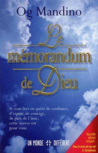 9782892258233: Le mémorandum de Dieu