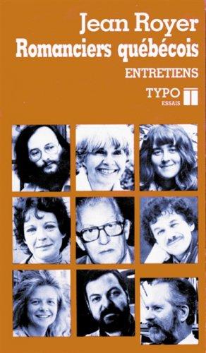 9782892950571: Romanciers québécois: Entretiens, essais (Typo) (French Edition)