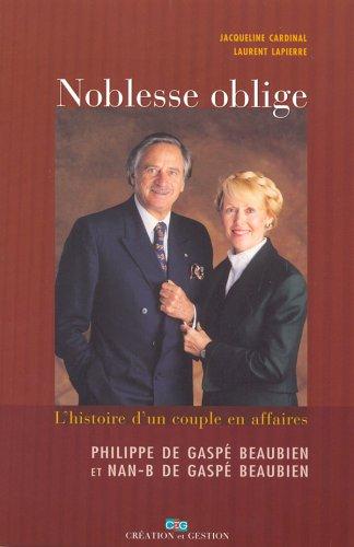 NOBLESSE OBLIGE: Lapierre, Laurent; Cardinal,