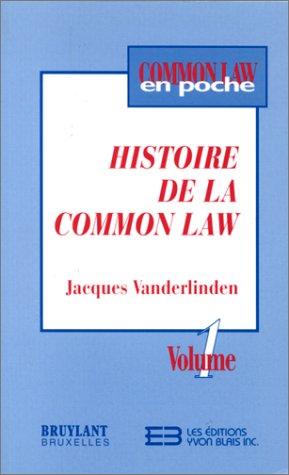 9782894510971: Histoire de la Common law
