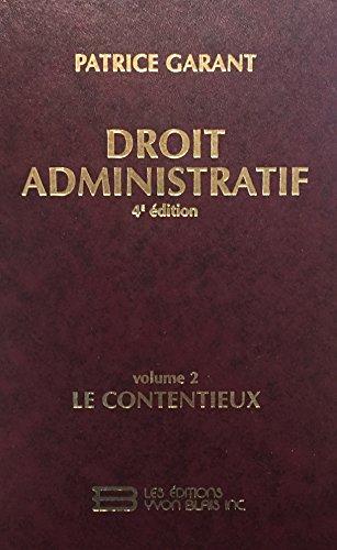 Droit Administratif Vol 2: Y, BLAIS