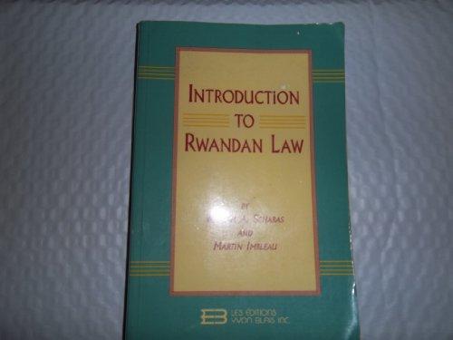 9782894511855: Introduction to Rwandan law