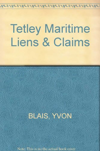 9782894512272: Maritime Liens and Claims
