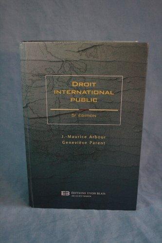 Droit international public: J.-Maurice Arbour