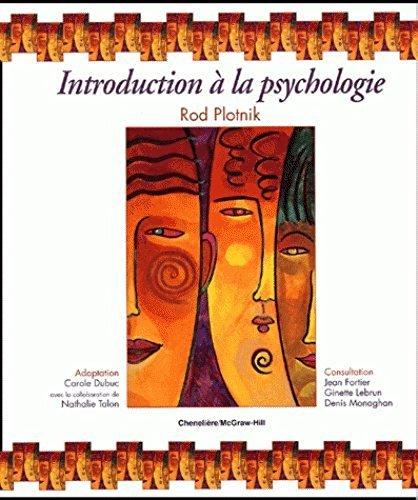 Introduction psychologie manuel + guide: Plotnik, Rod