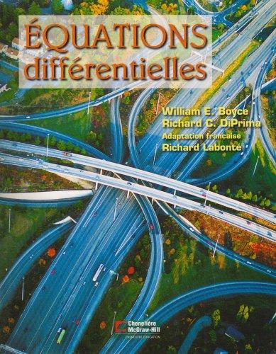 équations différentielles ; manuel: William E. Boyce