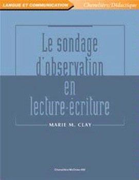 9782894618073: Sondage d'Observation en Lecture-Écriture (le)