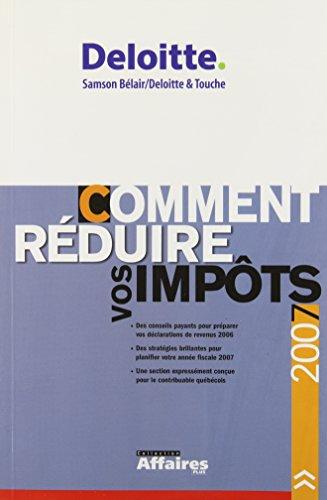 COMMENT REDUIRE VOS IMPOTS 8EME EDITION: SAMSON,ALAIN
