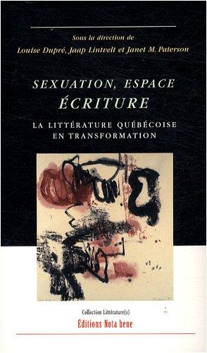 sexuation espace ecriture: JAAP LINTVELT, LOUISE