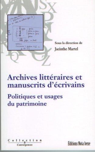 archives litt?raires et manuscrits d'?crivains: n/a
