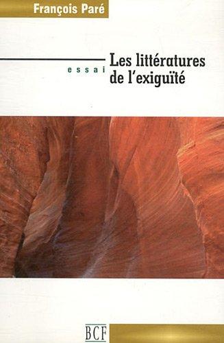 9782895310075: Les littératures de l'exiguïté