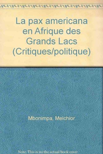 en Afrique Grands Lacs: Mbonimpa,Melchior