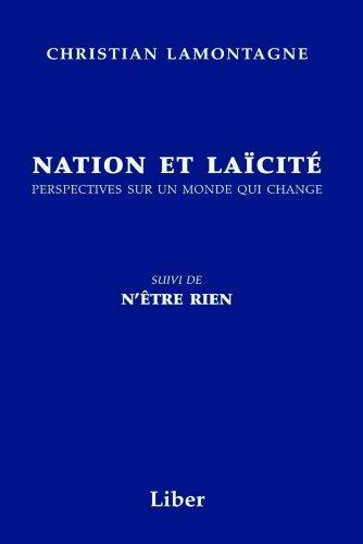 NATION ET LAÏCITÉ: LAMONTAGNE CHRISTIAN