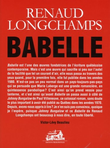 9782895831341: Oeuvres Completes T 07 Babelle
