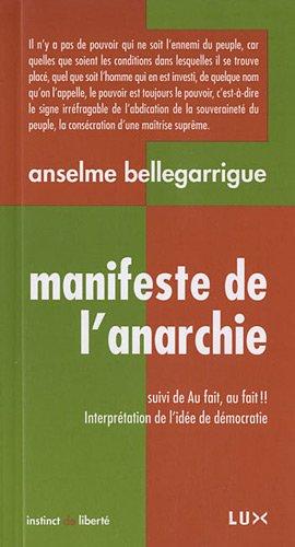 9782895961147: Manifeste de l'anarchie