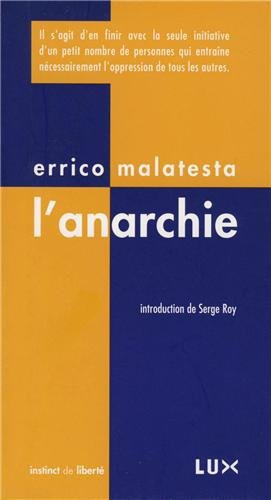 9782895961512: L'anarchie (French Edition)