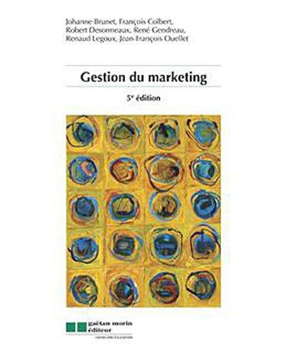 gestion du marketing (5e. édition)