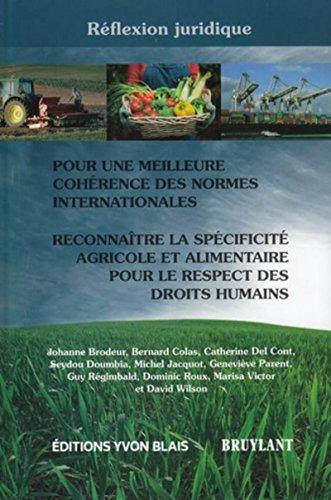 """""""pour une meilleure cohérence des normes internationales ; reconnaître la sp&..."""