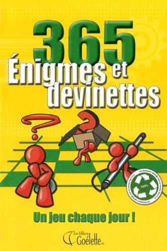 365 ENIGMES ET DEVINETTES VOL.1: Collectif