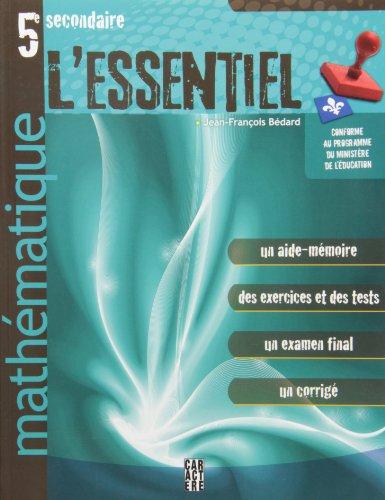 5e secondaire mathématique [Paperback] Bédard, Jean-François