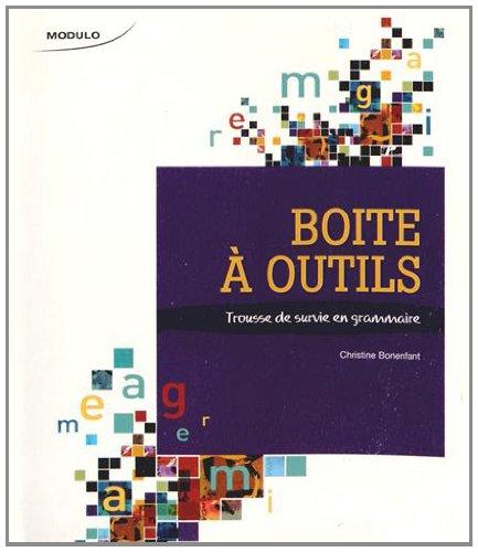 BOITE A OUTILS MANUEL TROUSSE SURVIE: BONENFANT