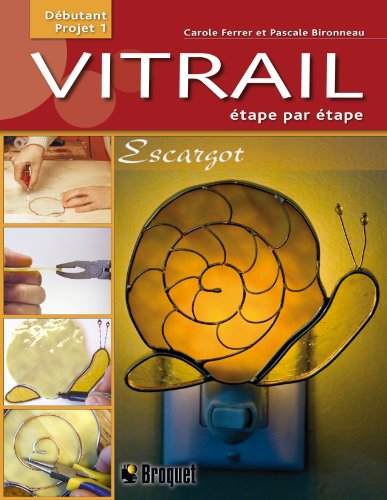9782896540716: Vitrail �tape par �tape : Escargot, d�butant projet 1