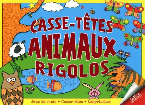 Casse-têtes rigolos des animaux: Presses Aventure