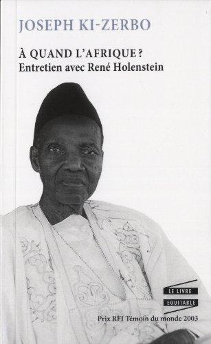 9782897120337: A Quand l'Afrique?