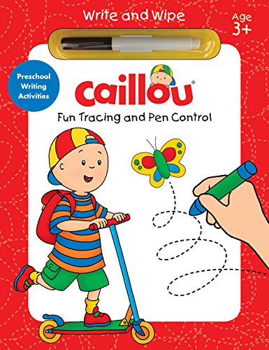 9782897182601: Caillou, Fun Tracing and Pen Control: Preschool Writing Activities (Write and Wipe)
