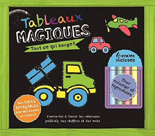 Tableau magique, tout ce qui bouge : 4 craies incluses - Presses Aventure