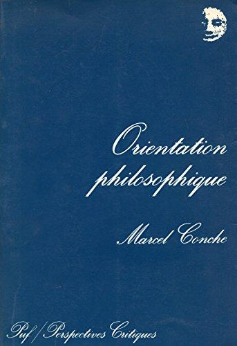 9782900061039: Orientation philosophique (French Edition)