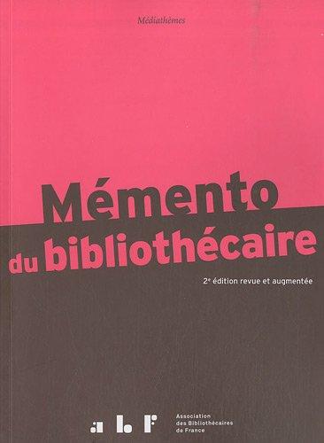 9782900177365: Mémento du bibliothécaire : Guide pratique