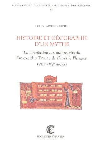 9782900791790: Histoire et geographie d'un mythe. La circulation des manuscrits du